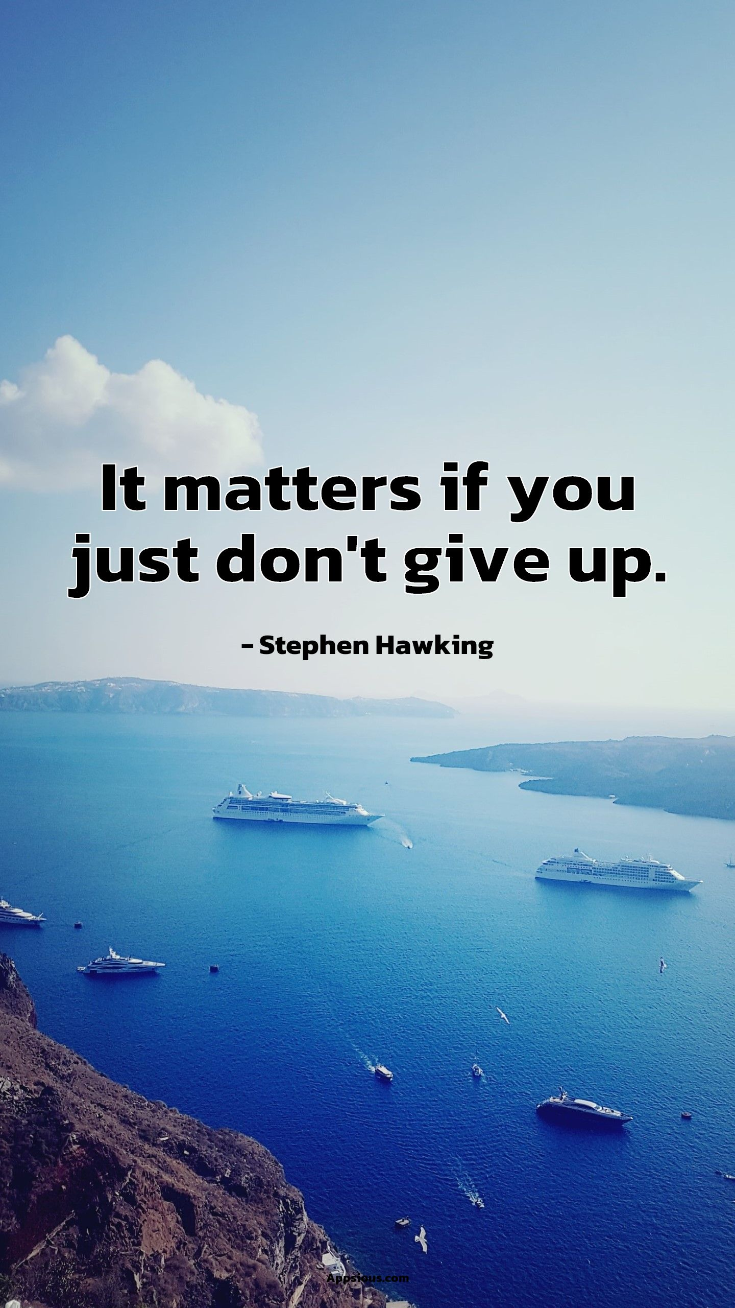 It matters if you just don't give up.