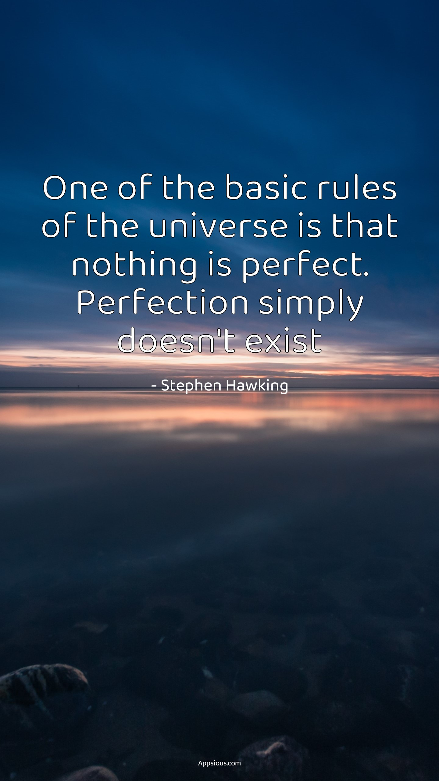 One of the basic rules of the universe is that nothing is perfect. Perfection simply doesn't exist
