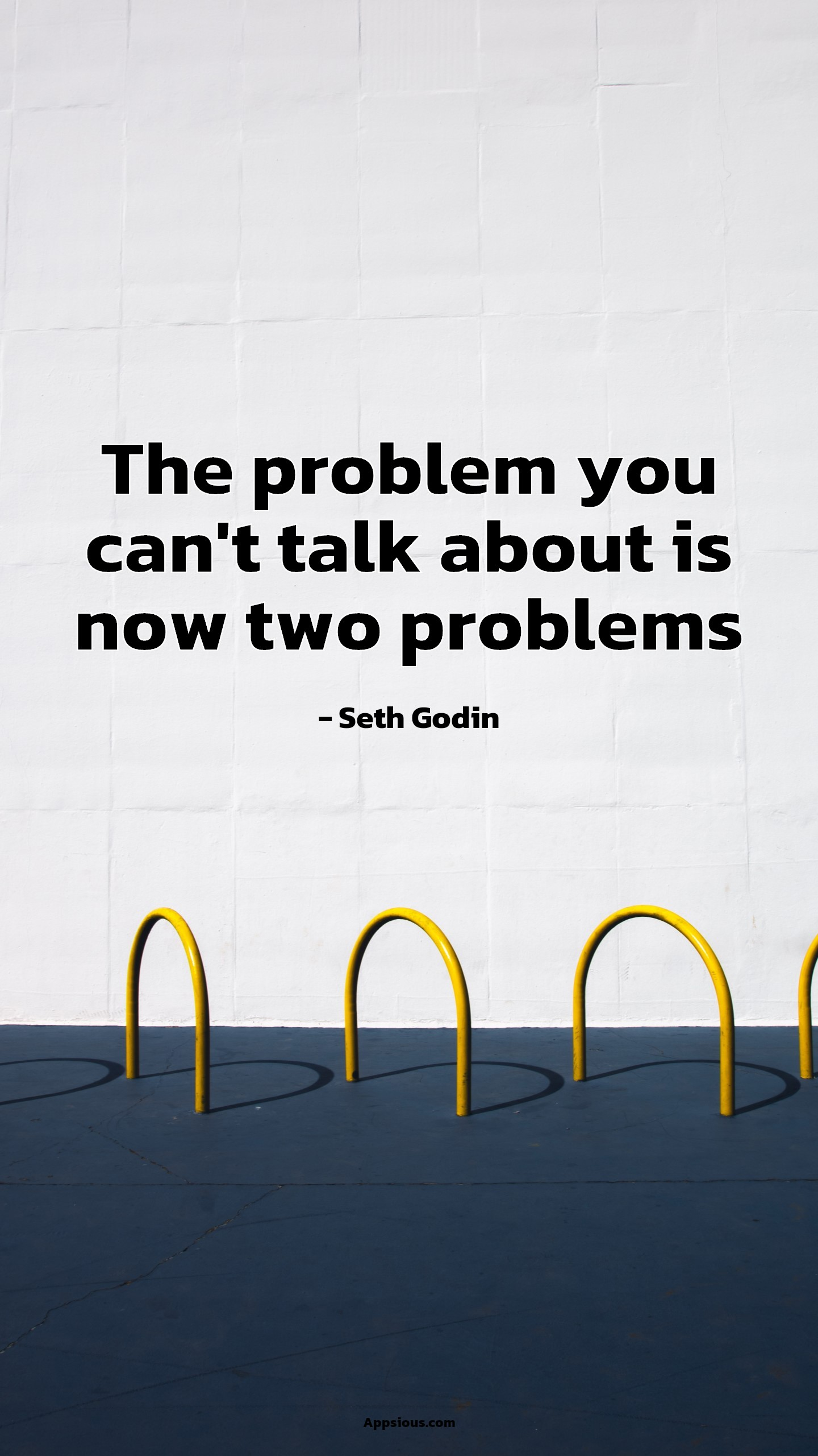 The problem you can't talk about is now two problems