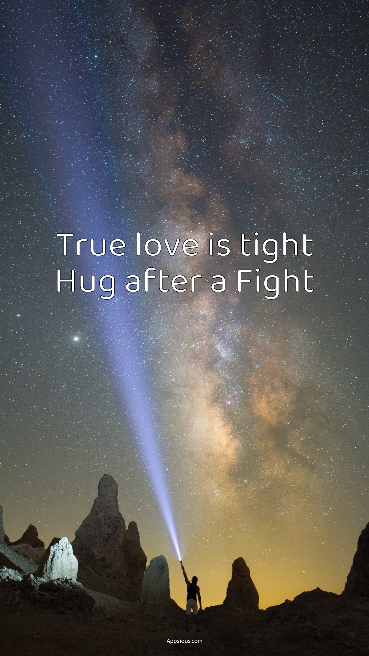 True love is tight Hug after a Fight