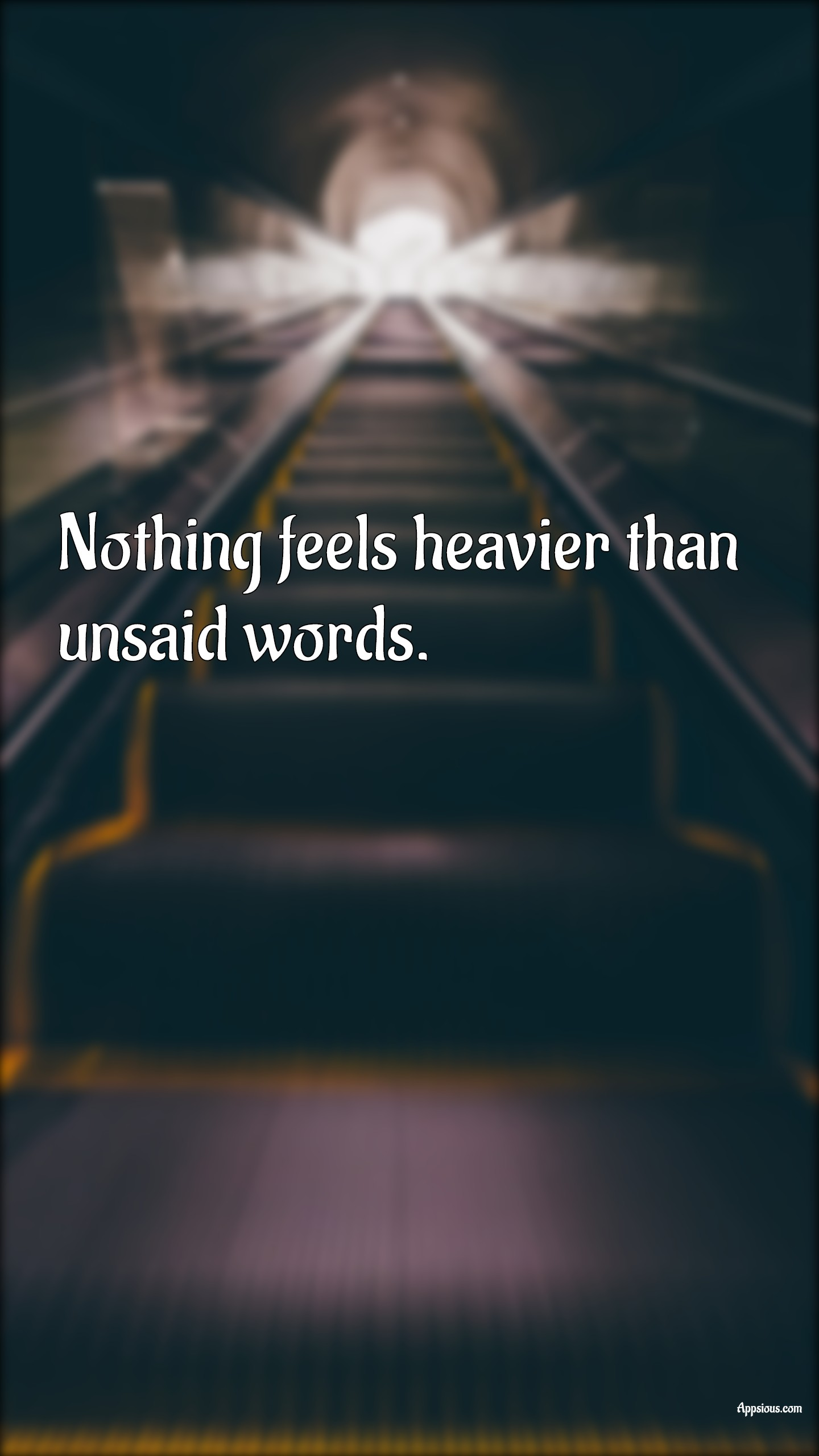 Nothing feels heavier than unsaid words.
