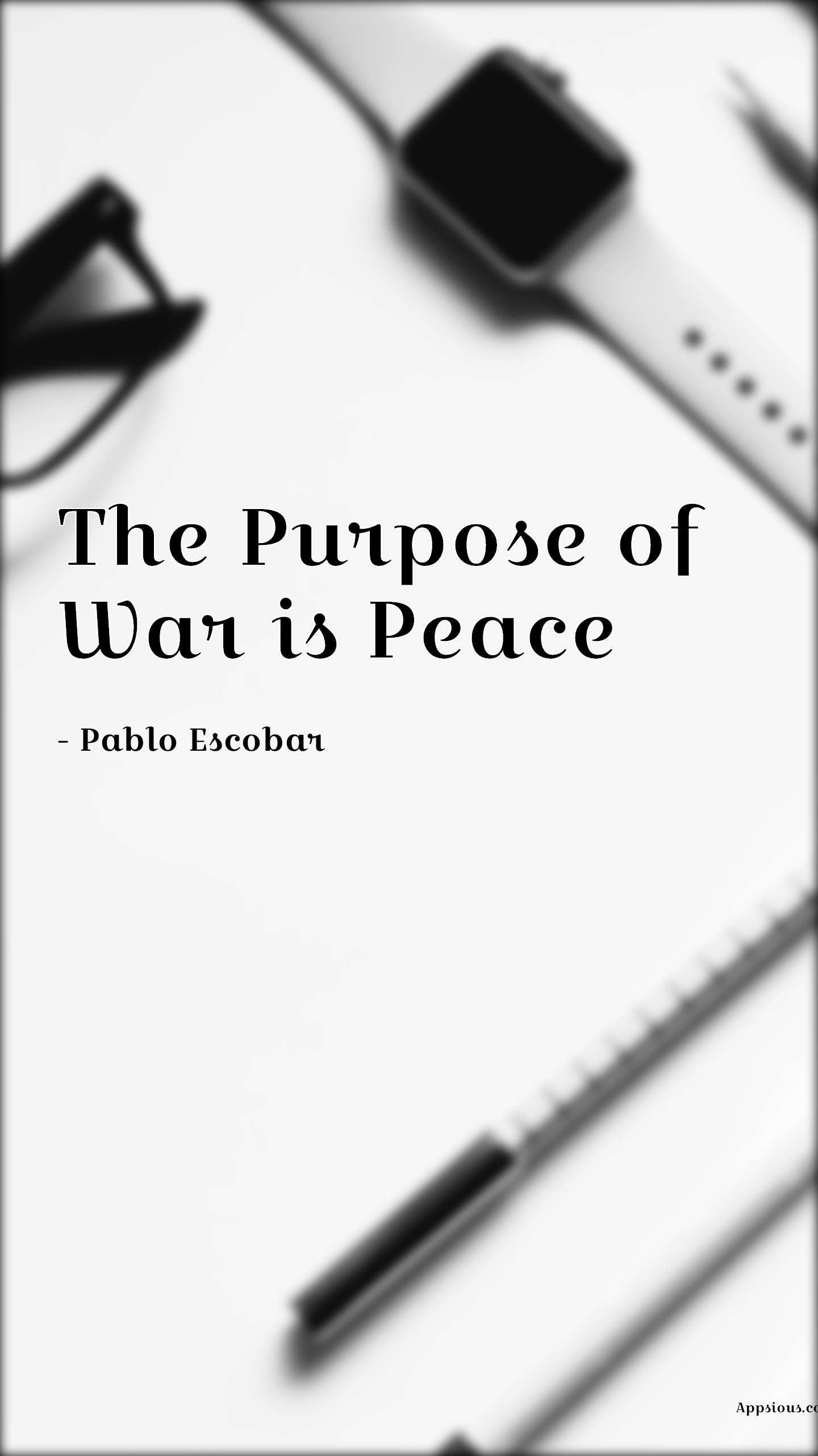 The Purpose of War is Peace