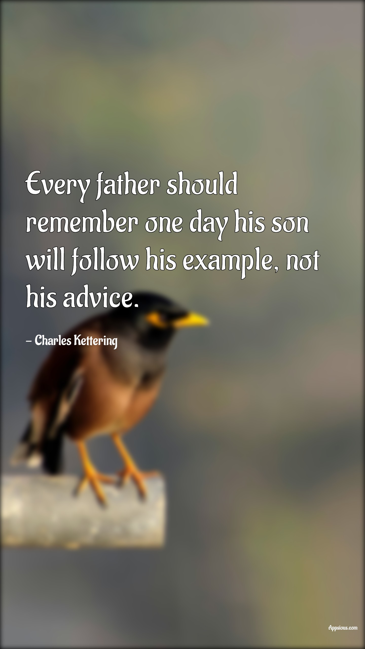 Every father should remember one day his son will follow his example, not his advice.