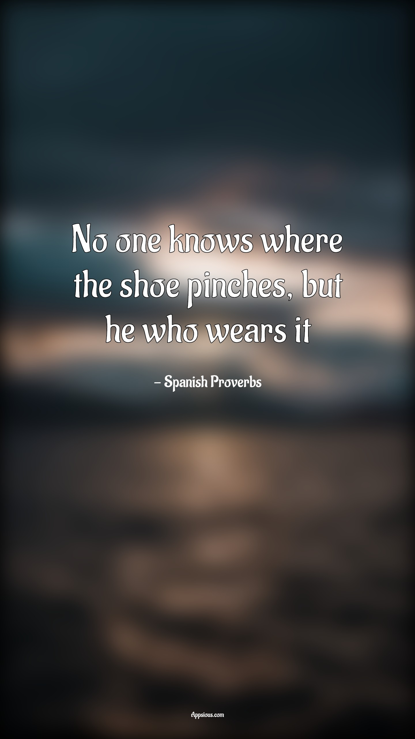 No one knows where the shoe pinches, but he who wears it