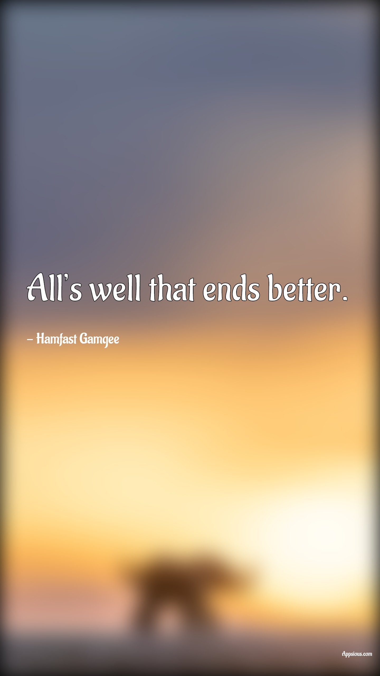 All's well that ends better.
