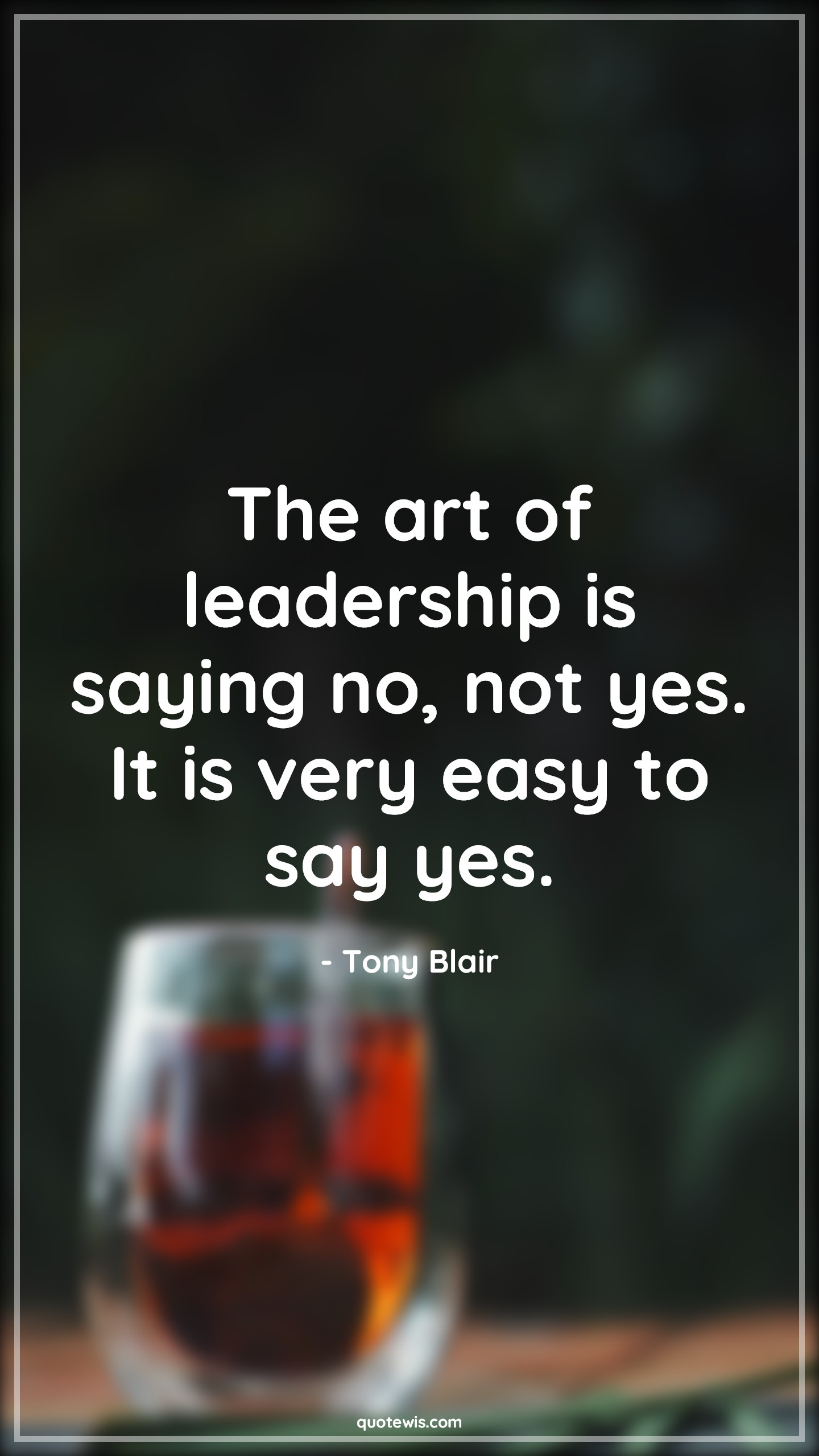 The art of leadership is saying no, not yes. It is very easy to say yes.