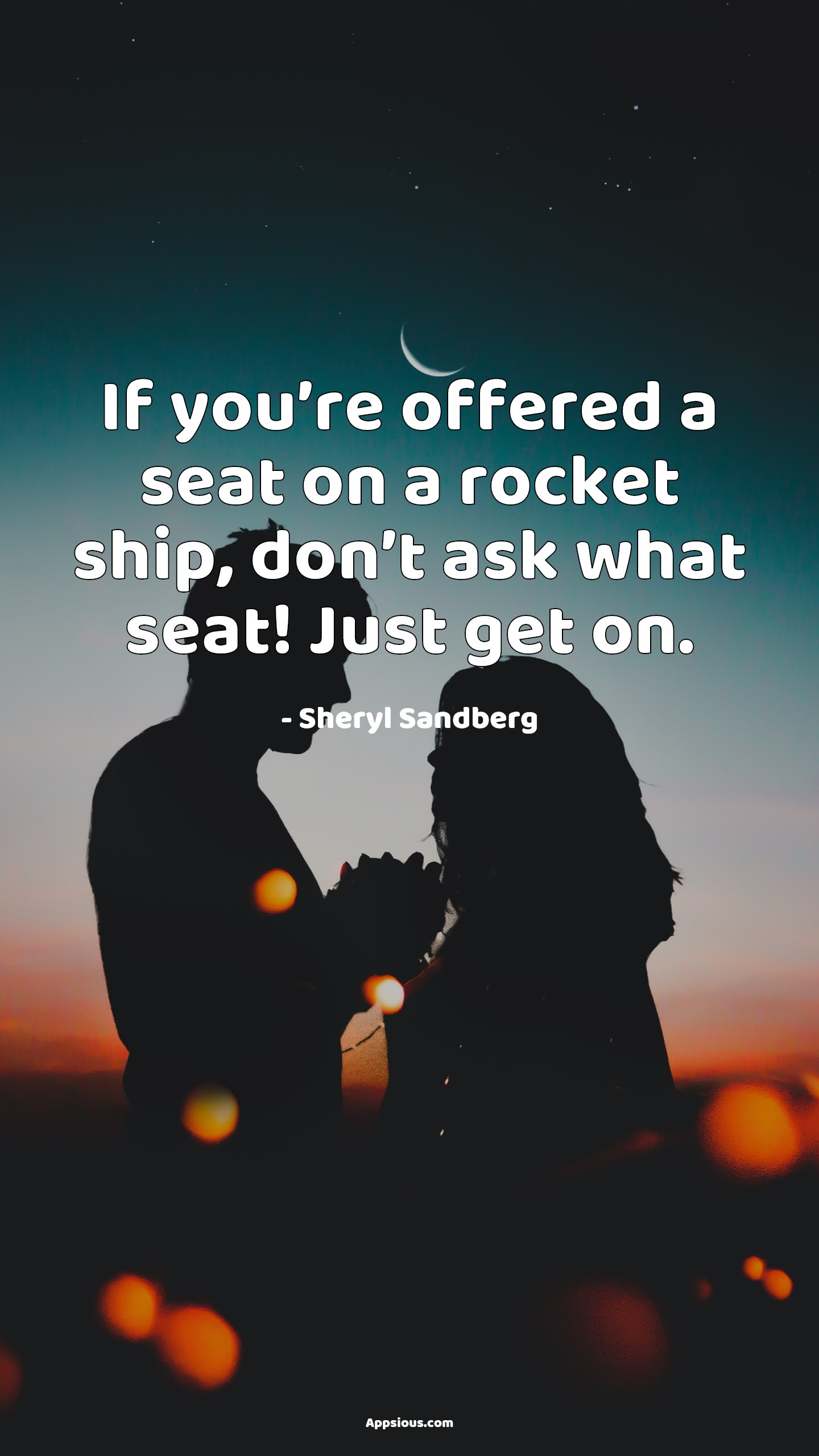 If you're offered a seat on a rocket ship, don't ask what seat! Just get on.