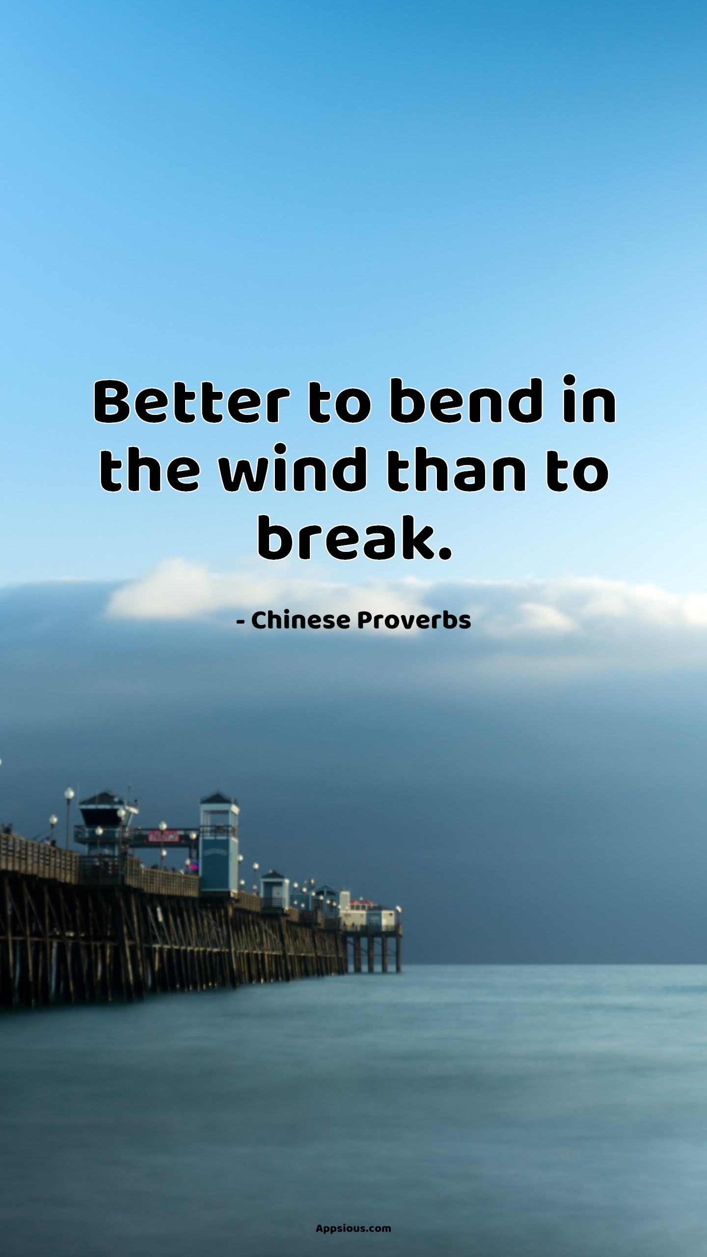 Better to bend in the wind than to break.