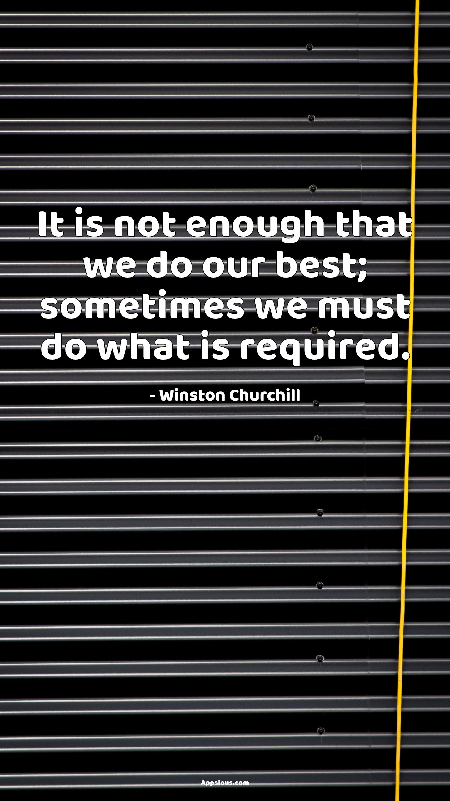 It is not enough that we do our best; sometimes we must do what is required.