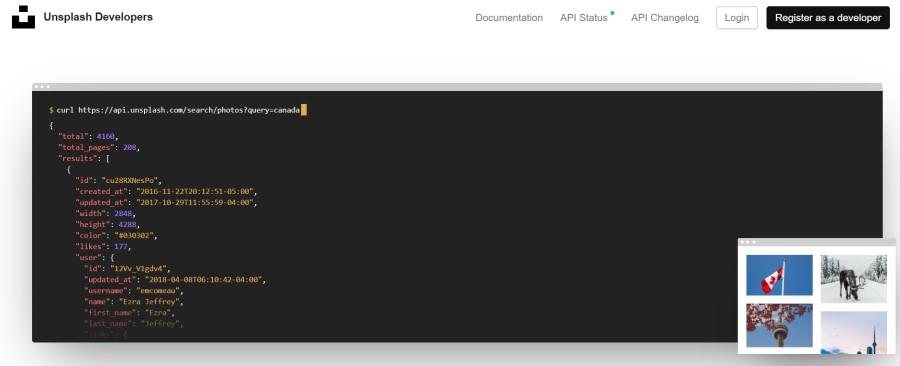 Unsplash API