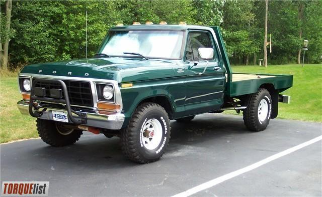 Torquelist For Sale 1978 Ford F150 4x4 Restored With Custom Flatbed
