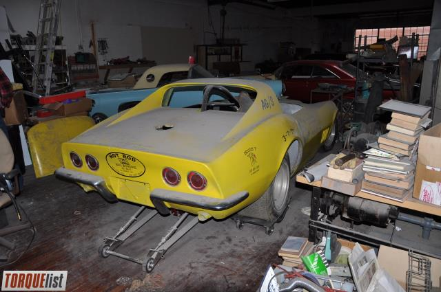 TORQUELIST - For Sale: 1968 Corvette vintage funny car roller