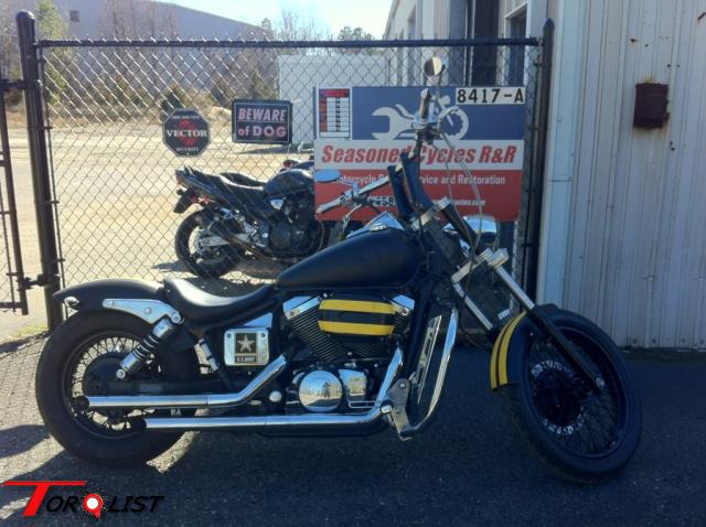 2002 Honda Shadow 750 Bobber For Sale. Tuned And Carbs Cleaned By Seasoned  Cycles Ru0026R (Mechanicsville). Painted Black With Yellow Racing Stripes And  Clear ...