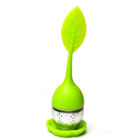 Teastrainer slcn leaf grn