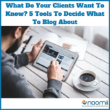 Icon what do your clients want to know  5 tools to decide what to blog about