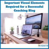 Icon most important visual elements required for a successful coaching blog