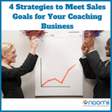 Icon 4 strategies to meet sales goals for your coaching business