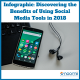 Icon infographic  discovering the benefits of using social media tools in 2018