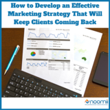Icon how to develop an effective marketing strategy that will keep clients coming back