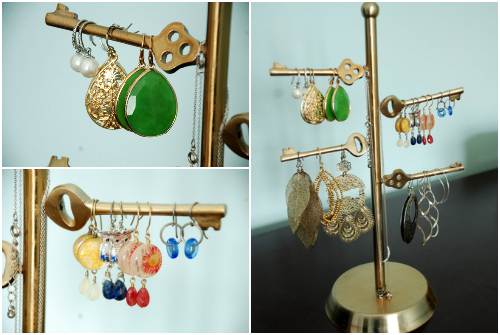 jewelry organization necklace stand earrings