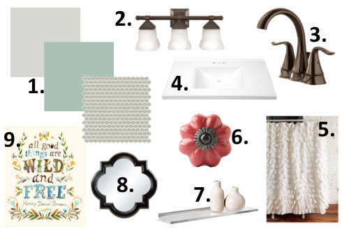 gray bathroom inspiration board