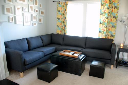 karlstad couch ikea sivik gray
