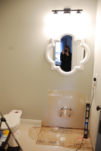 allen roth quatrefoil mirror bathroom