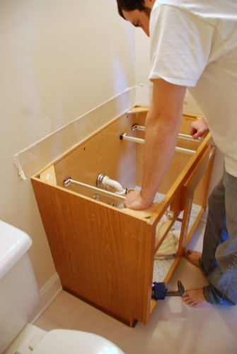 remove bathroom sink how to vanity
