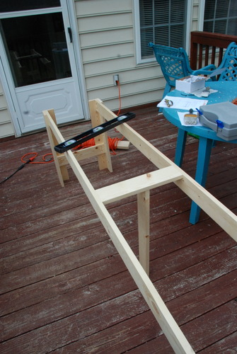 how to build a console table base diy