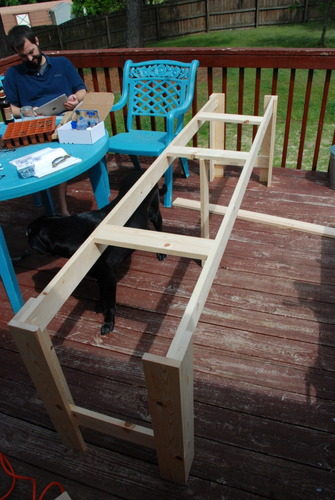 console table base diy how to build