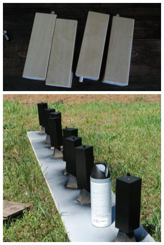 ikea karlstad furniture legs spray paint satin black