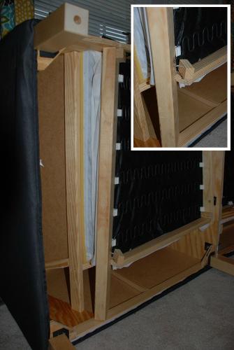 broken ikea karlstad sofa frame