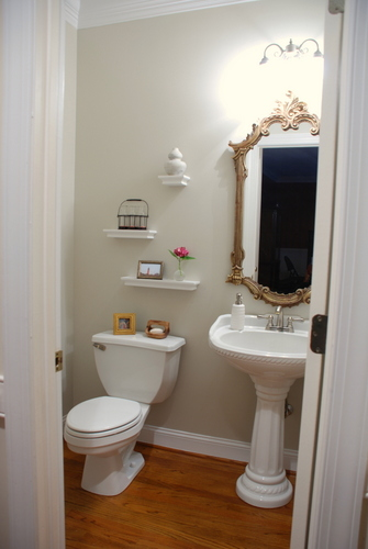 Powder Room Makeover powder room accessories decor traditional powder room chicago