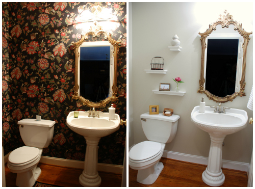 Before and After: Powder Room Makeover | www.livelygreendoor.com