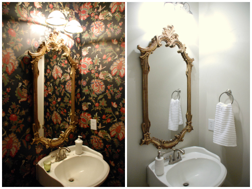 Before and After: Powder Room Makeover | www.livelygreendoor.com