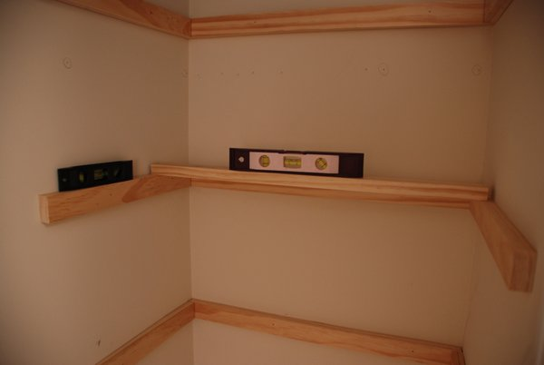 Lively Green Door Guest Room Closet Shelving Part One