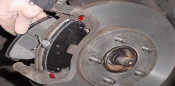 brake pads inspection