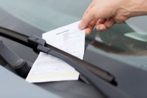 Engine idle parking ticket