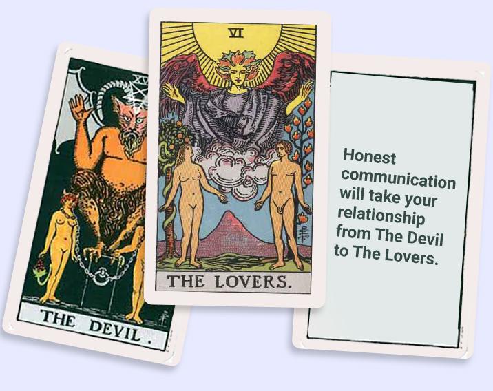 tarot card the devil in relationship