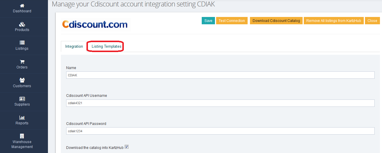 cDiscount-integration