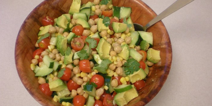 Chickpea and Avocado Summer Salad