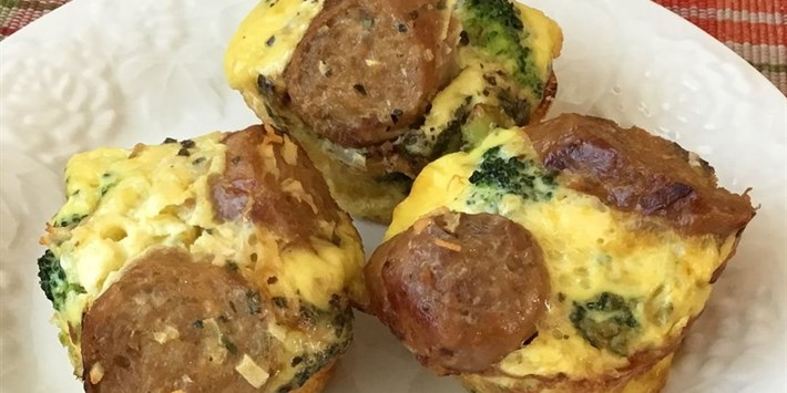 Turkey Sausage and Broccoli Egg Muffins