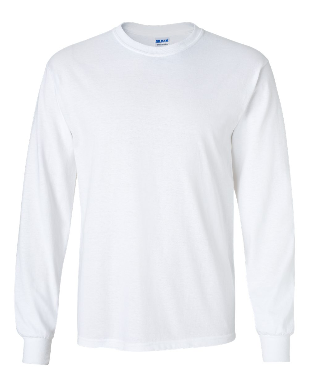 Men s Basic Plain Long Sleeve Shirt  WHITE (XXL)  1347f8644b1