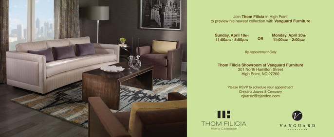 come celebrate with thom filicia at high point market as we launch a new line of artwork furniture and bedding