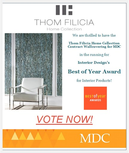 we are thrilled to be up for a best of year award from interior design magazine please vote today for all of your design favorites