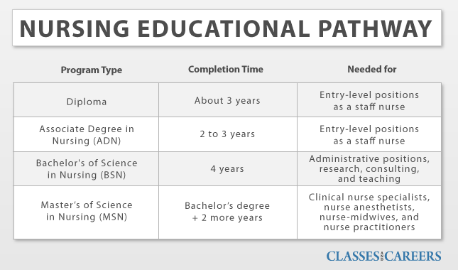 nursing education paths