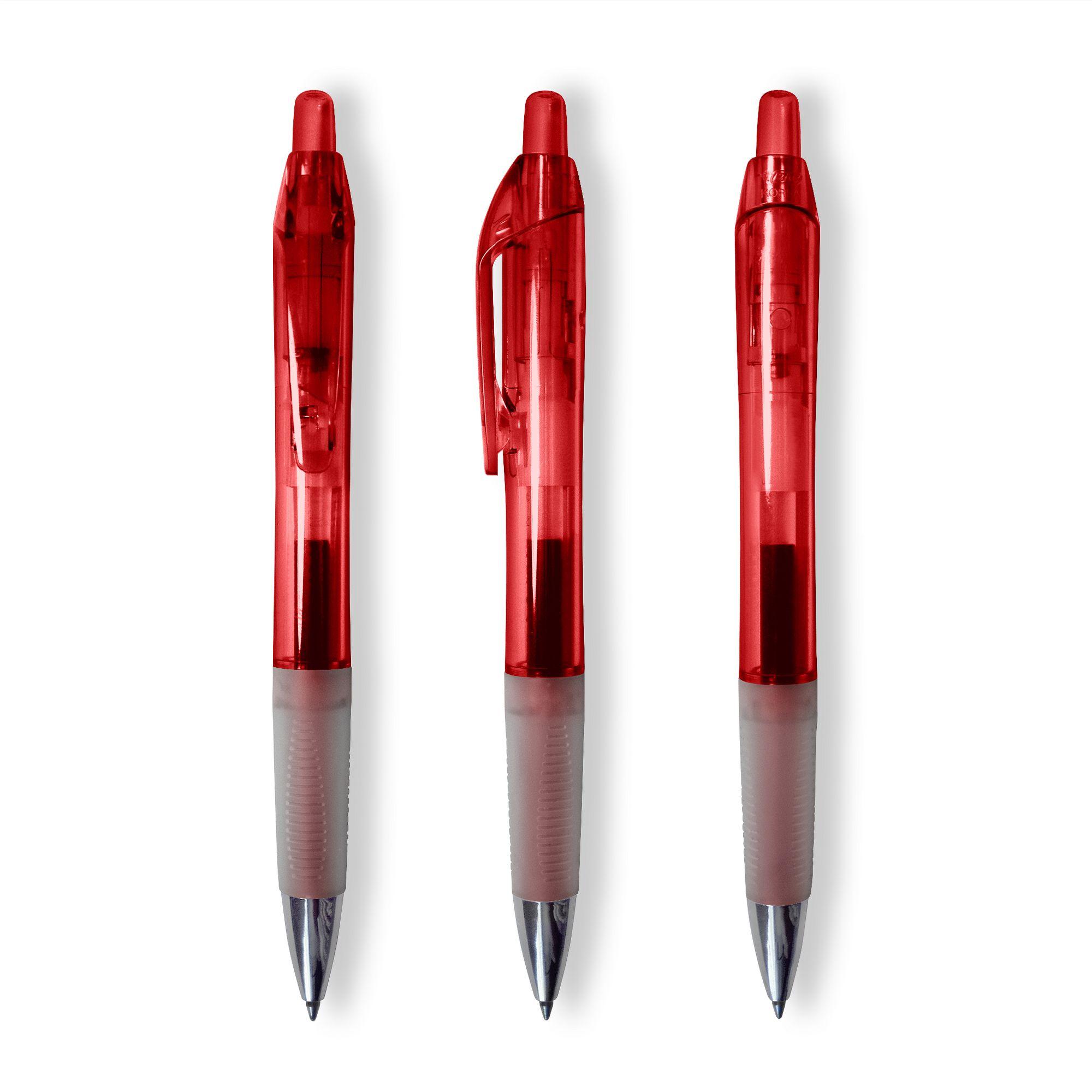 Bic Intensity Clic Gel Pen in Clear Red