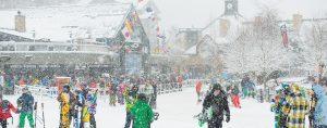 Snowy Whistler Village