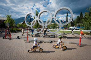 Kidsworx at the Olympic Plaza during Crankworx