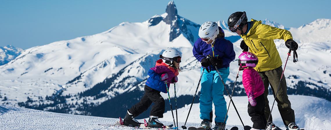 Family Skiing Whistler Mountain